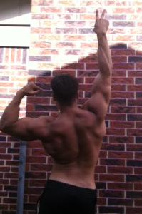 This back shot was taken on June 26, 2014 at the end of my 12 week prep.