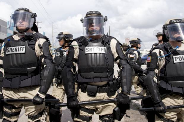 These aren't your local policemen anymore.