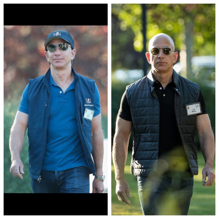 Jeff Bezos Before/After